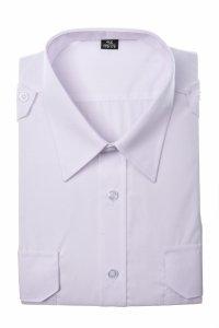 Koszula biała z krótkim rękawem dla służb mundurowych