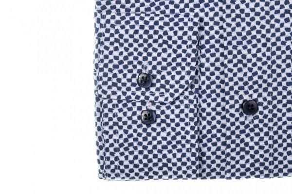 Koszula męska Slim - w geometryczny wzór
