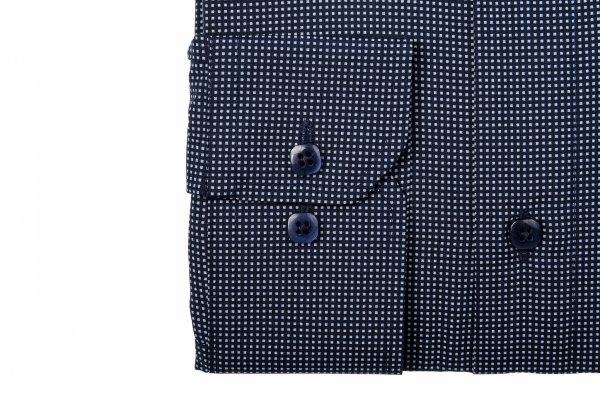 Koszula męska Slim - granatowa w geometryczny wzorek