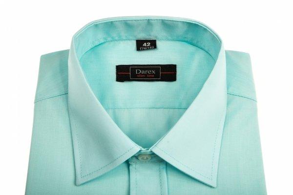 Koszula męska Slim -  zielononiebieska