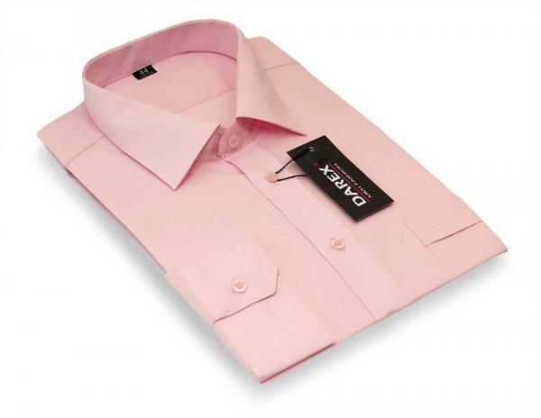 Koszula długi rękaw Slim - różowa