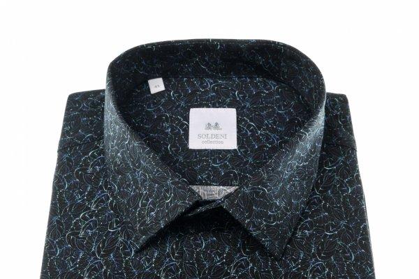 Koszula męska Slim - w roślinny wzór
