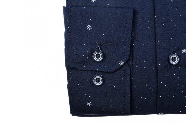 Koszula męska XXXL - granatowa w gwiazdeczki