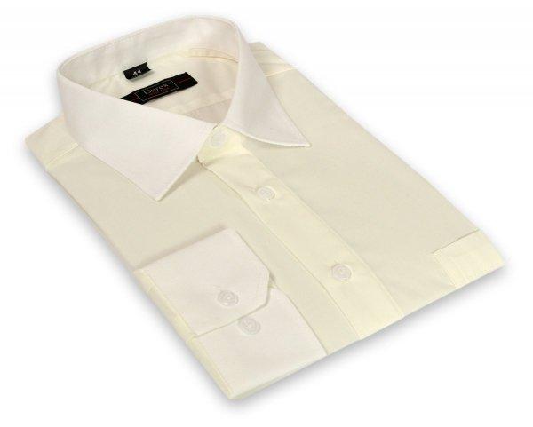 Koszula męska Slim - ecru