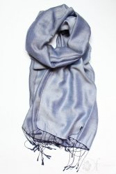 One-color shawl with stripes