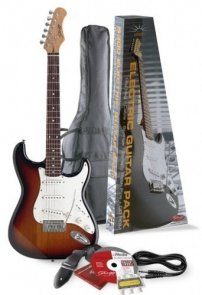 Stagg S 300 SB Pack 2 - gitara elektryczna z wyposażeniem