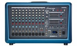 Studiomaster Event 712 powermikser 2 x 250W, USB, odtwarzacz MP3-SD, USB
