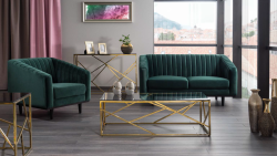Fotel ASPREY VELVET ciemny zielony