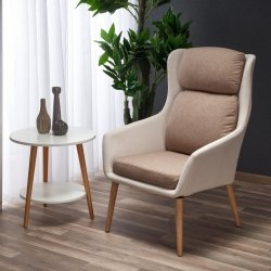 Fotel PURIO beżowy/brąz