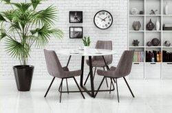Stół LOOPER biało-czarny