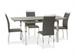 Stół rozkładany GD017 szary/chrom