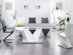 Stół rozkładany ALARAS II 160(220)x90 czarno-biały