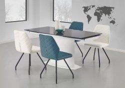 Stół rozkładany ANDERSON biały/czarny