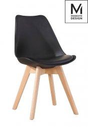Krzesło NORDIC czarne/dąb