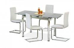 Stół rozkładany LOGAN 2 popielaty/chrom