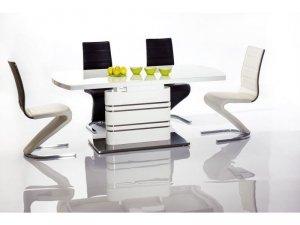 Stół szklany/rozkładany GUCCI 140(200)x85 biały