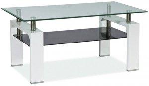 Ława szklana LISA II biała