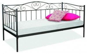 Łóżko metalowe Birma 90x200 Czarne