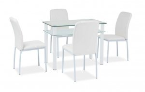 Stół szklany/metal SONO biały różne rozmiary