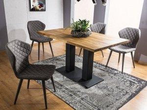 Stół SAURON 180x90 lity dąb/czarny