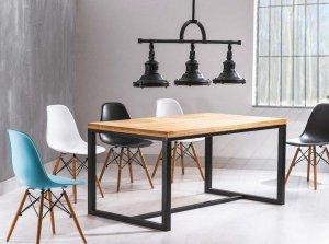 Stół LORAS A 120x80 lity dąb/czarny