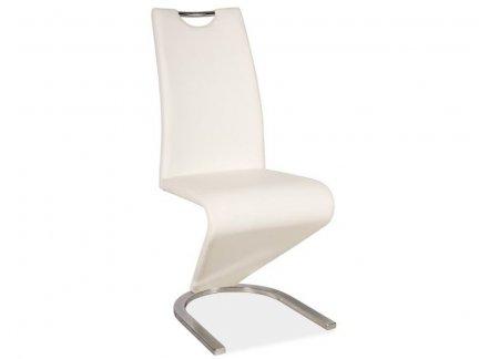 Krzesło H-090 białe / chrom
