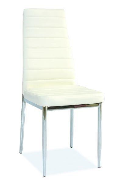 Krzesło metalowe H-261 białe / chrom