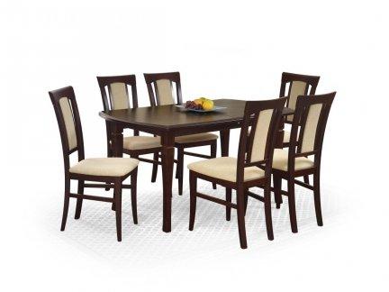 Stół rozkładany FRYDERYK 160x200 ciemny orzech