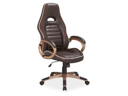 Fotel gabinetowy Q-150 brąz