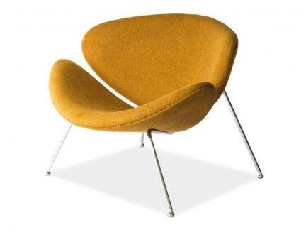 Fotel tapicerowany Major Żółty