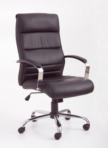 TEKSAS Fotel gabinetowy skóra czarny