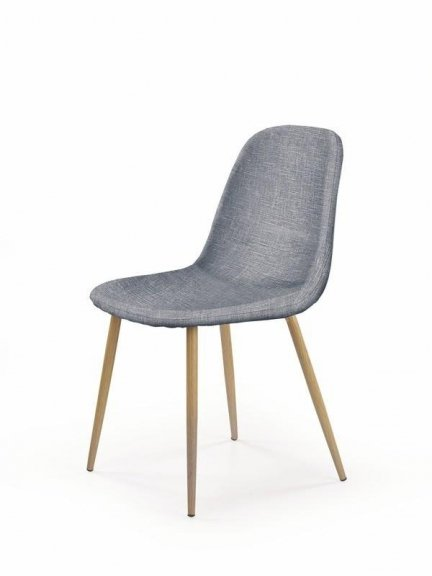 Krzesło tapicerowane K220 Popielate
