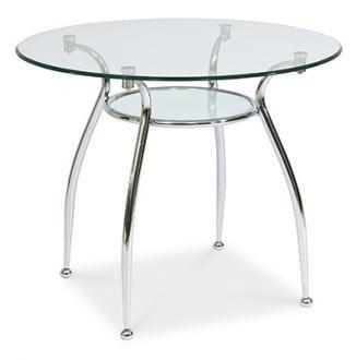 Stół szklany okrągły FINEZJA A