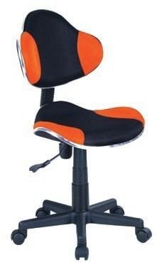 Fotel gabinetowy Q-G2 czarno-pomarańczowy