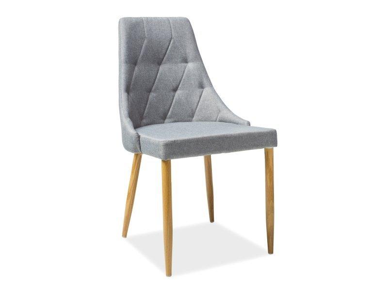 Krzesło TRIX II szare/dąb