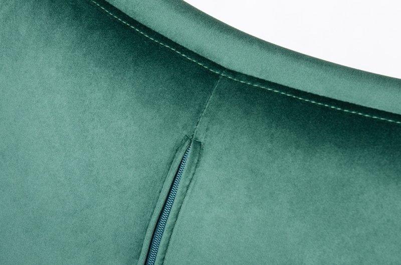 Fotel EGG SZEROKI VELVET BLACK ciemny zielony