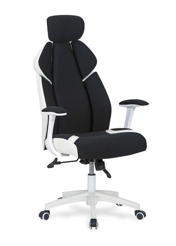 Fotel gabinetowy CHRONO czarno-biały