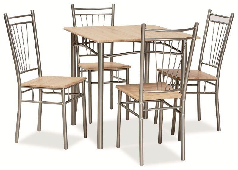 Zestaw FIT stół + 4 krzesła dąb sonoma