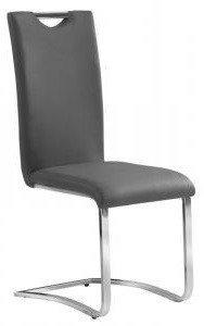 Krzesło H790 szare/chrom