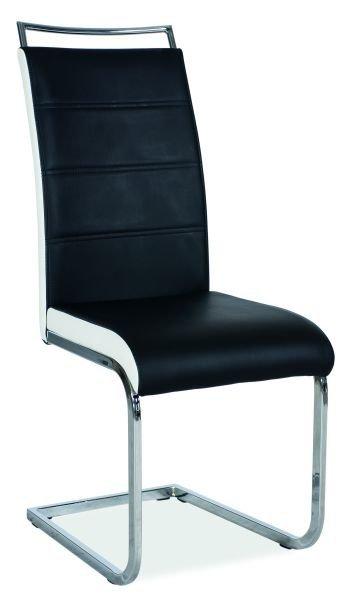 Krzesło H441 czarno-białe