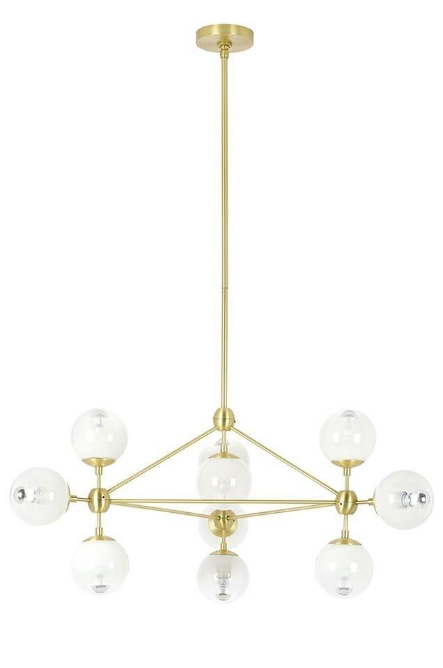 Lampa wisząca PLANETARIO 10 GOLD złota