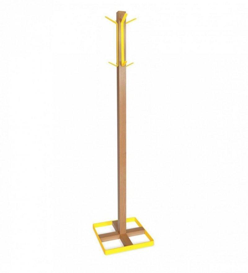 Wieszak stojący CLINT 2 buk/żółty
