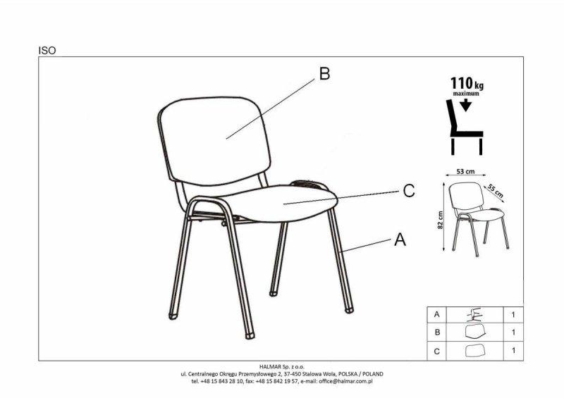 Krzesło ISO C11 czarny