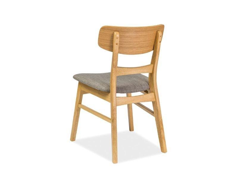 Krzesło CD-61 dąb/szare tył