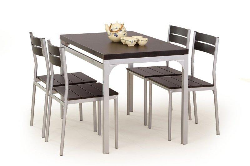 Zestaw MALCOLM stół + 4 krzesła wenge