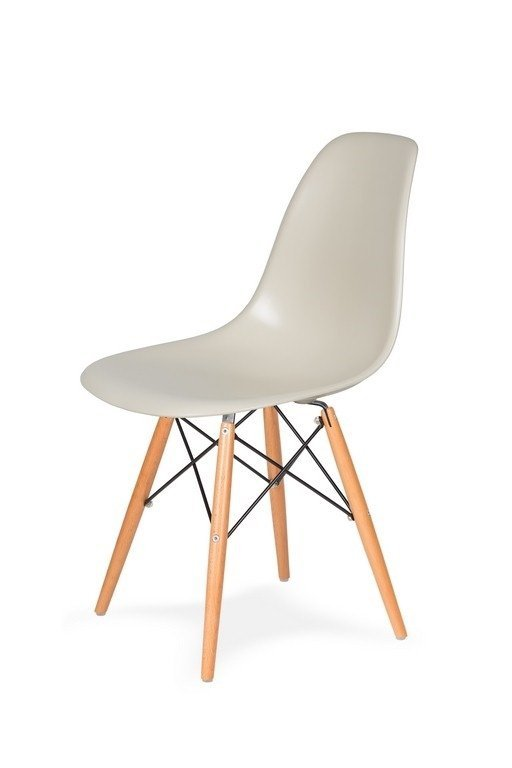 Krzesło DSW WOOD migdał pralinowy/buk