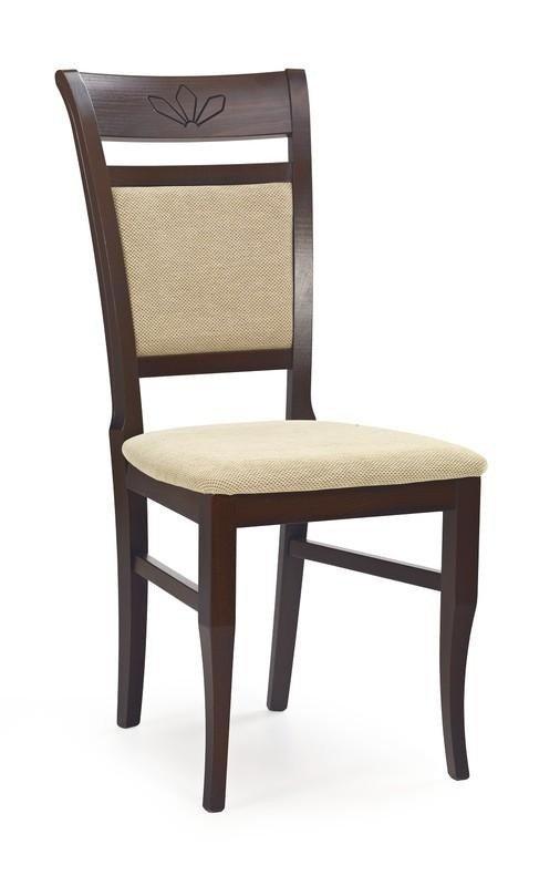 Krzesło JAKUB ciemny orzech/torent beige