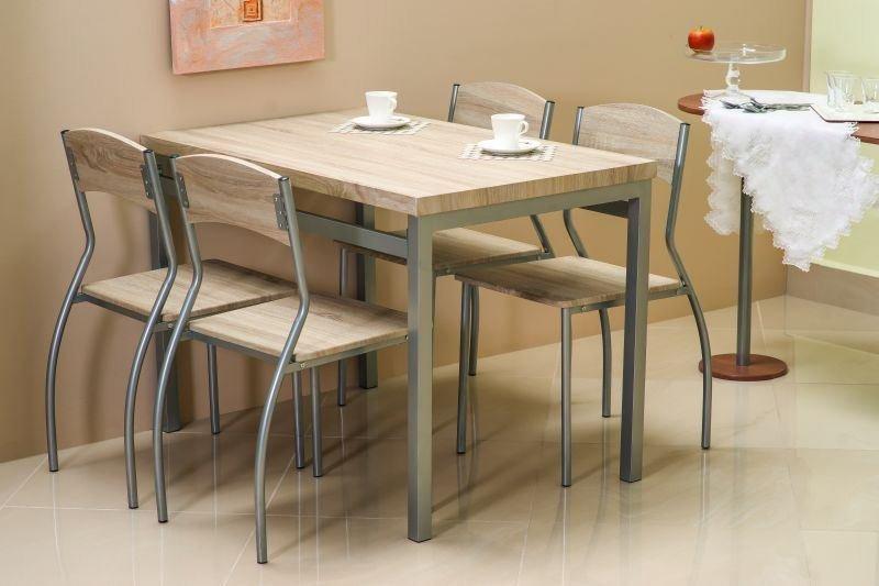 Zestaw ASTRO stół + 4 krzesła dąb sonoma