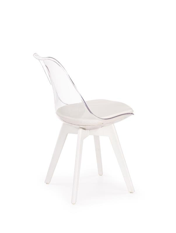Krzesło K245 bezbarwne/białe