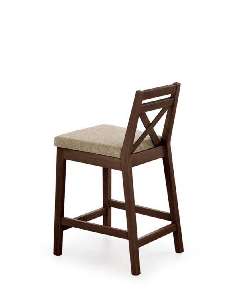 Krzesło barowe BORYS LOW ciemny orzech/vila2